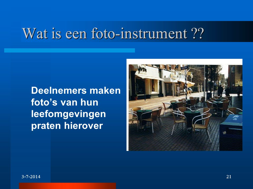 Wat is een foto-instrument
