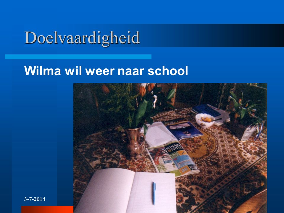 Doelvaardigheid Wilma wil weer naar school 4-4-2017 29 29