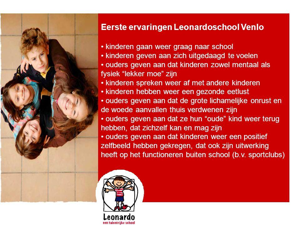 Eerste ervaringen Leonardoschool Venlo
