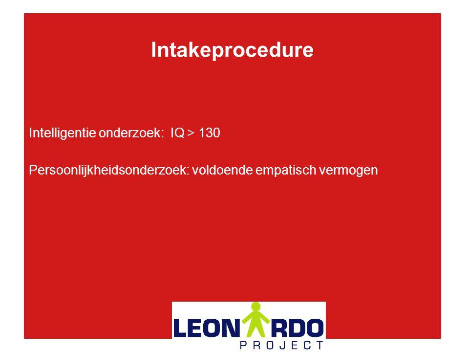 Intakeprocedure Intelligentie onderzoek: IQ > 130