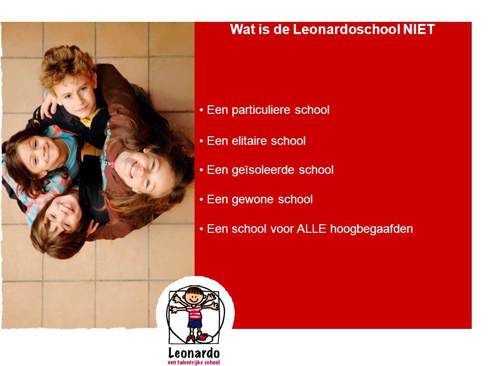 Wat is de Leonardoschool NIET