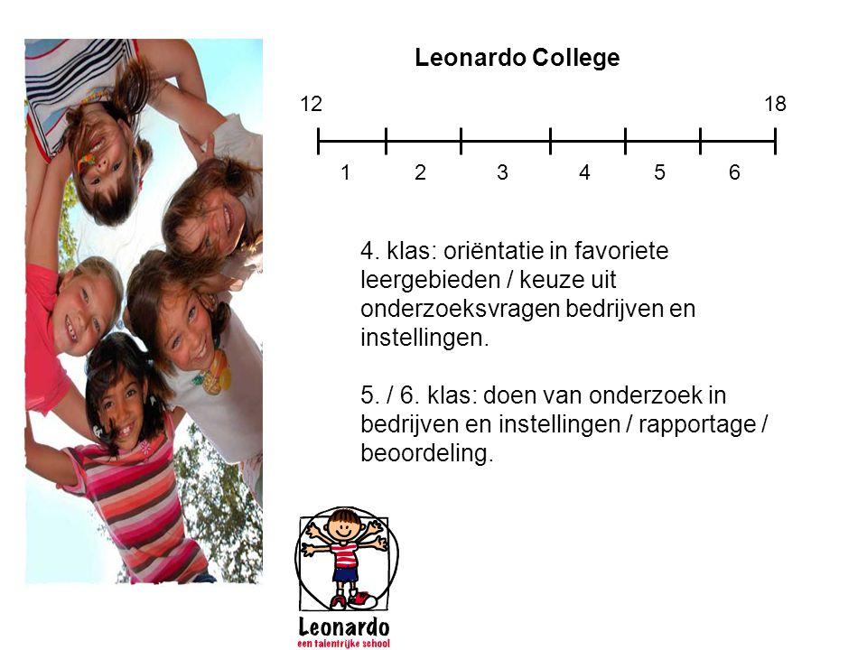 Leonardo College 12. 18. 1. 2. 3. 4. 5. 6.