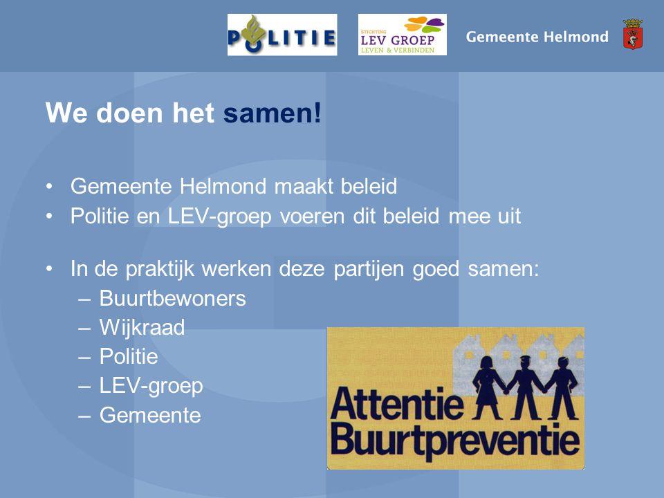 We doen het samen! Gemeente Helmond maakt beleid