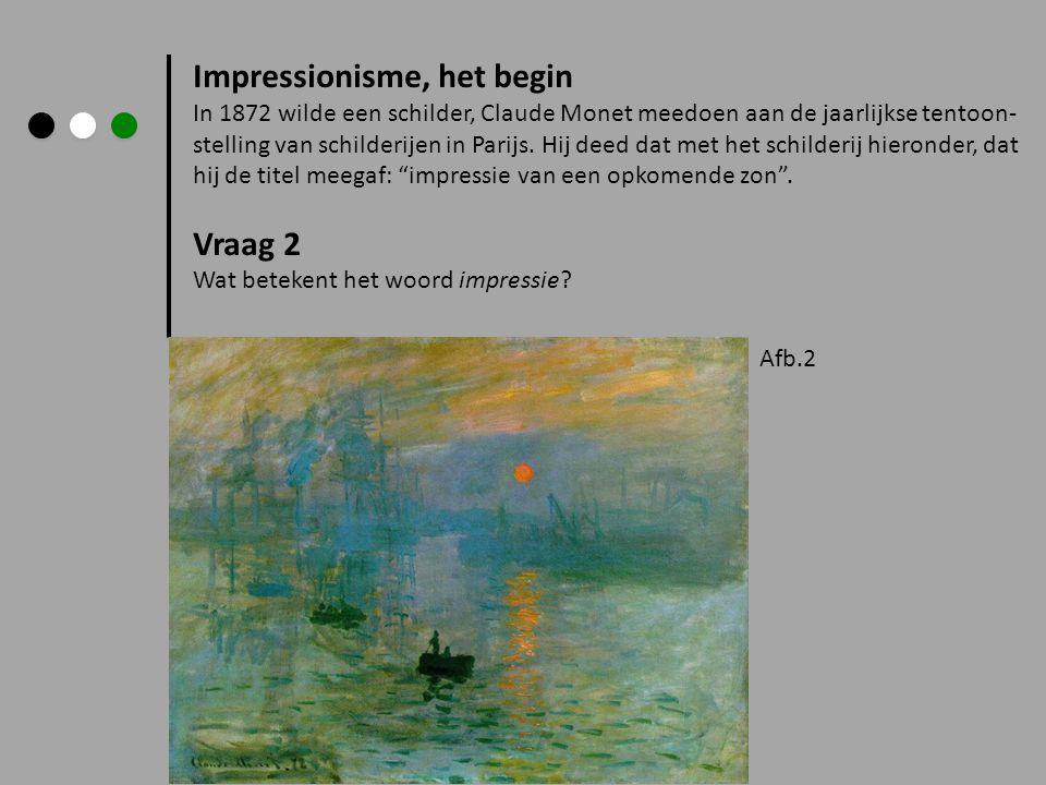 Impressionisme, het begin
