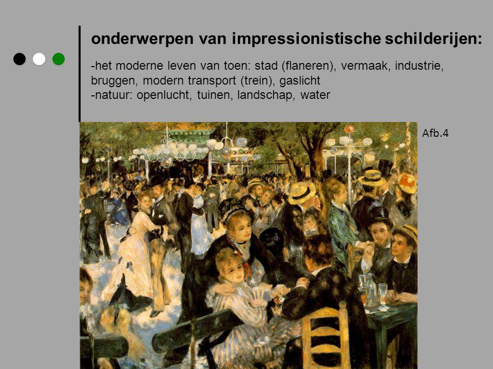 onderwerpen van impressionistische schilderijen: