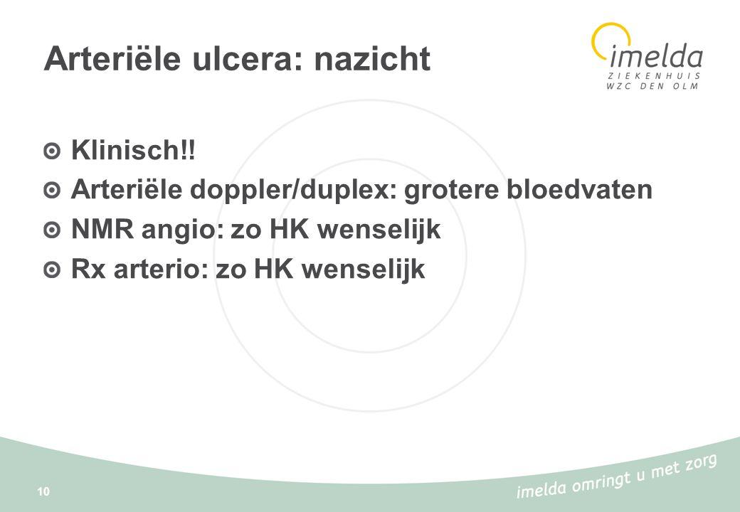 Arteriële ulcera: nazicht
