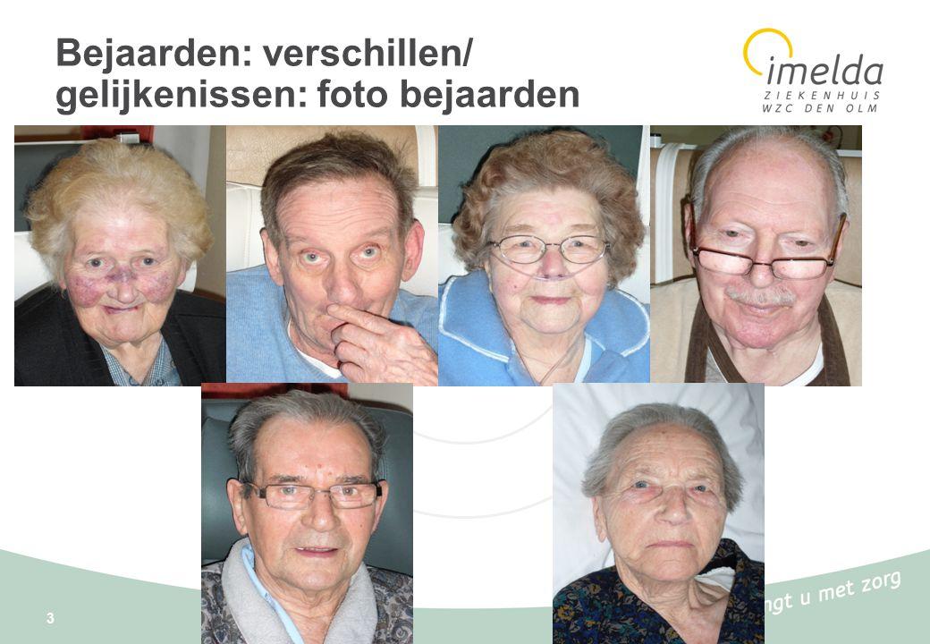 Bejaarden: verschillen/ gelijkenissen: foto bejaarden