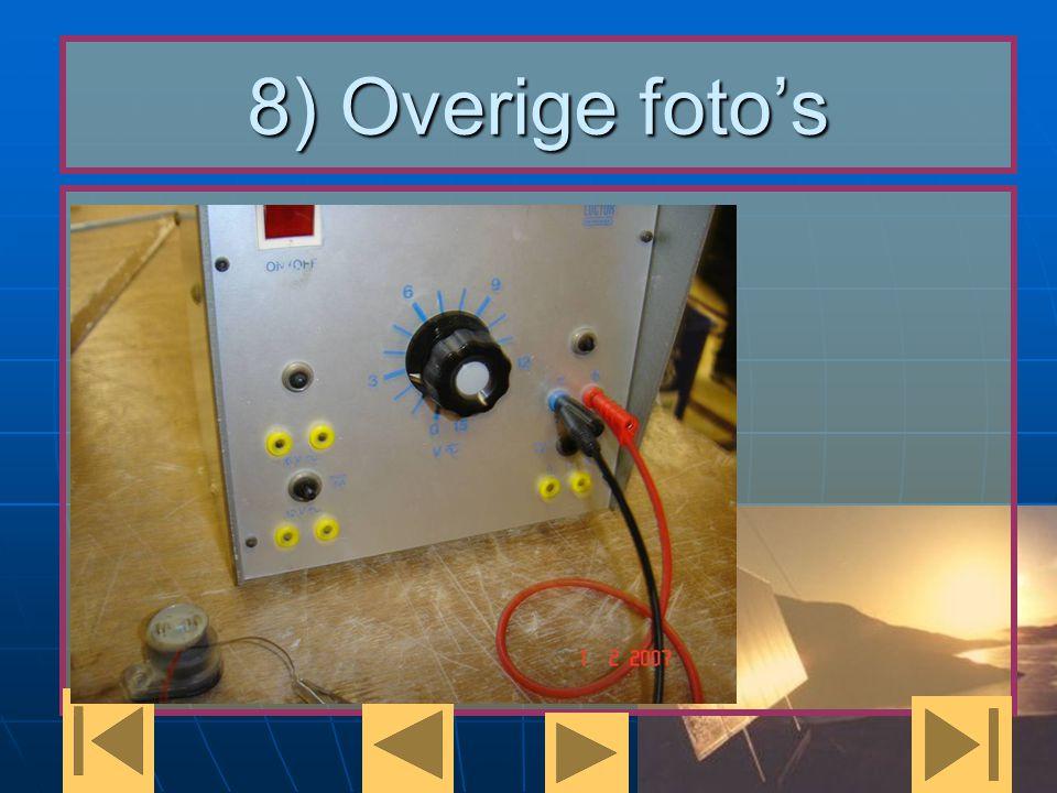 8) Overige foto's