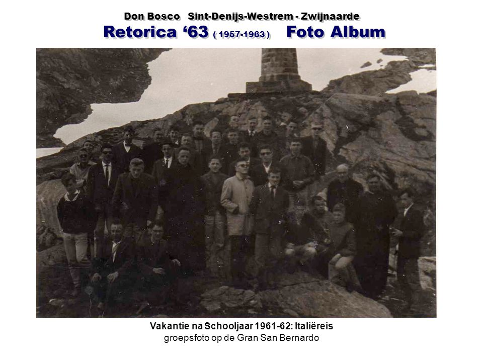 Vakantie na Schooljaar 1961-62: Italiëreis
