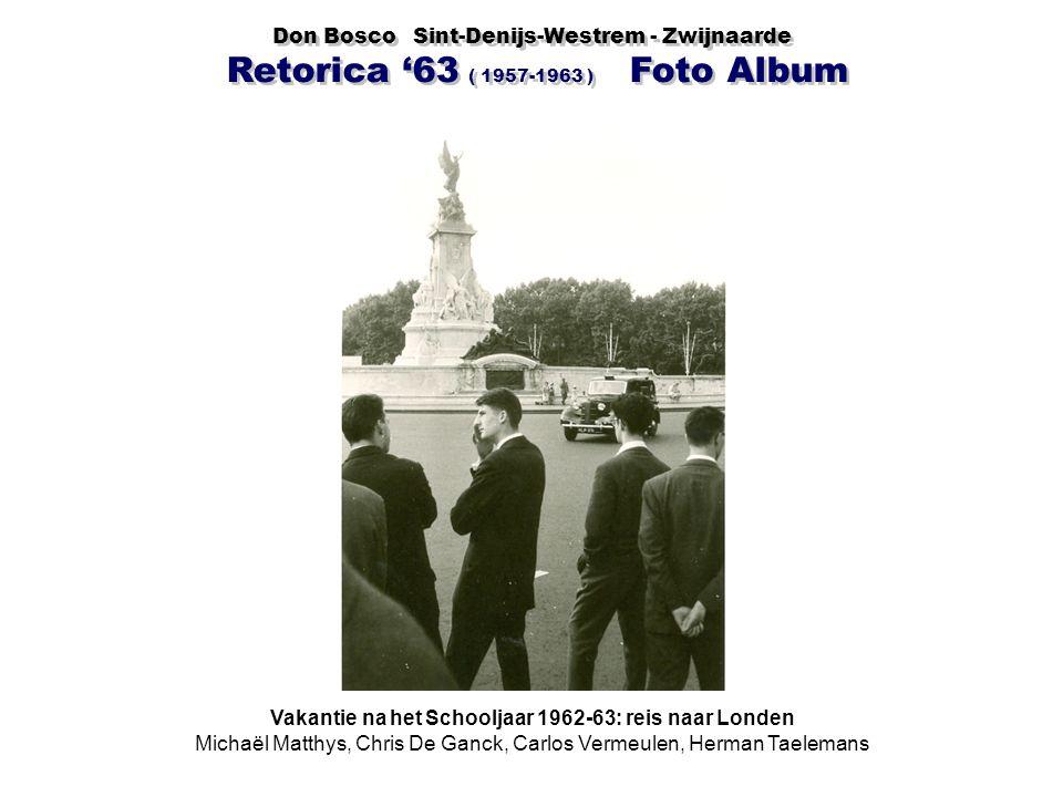 Vakantie na het Schooljaar 1962-63: reis naar Londen
