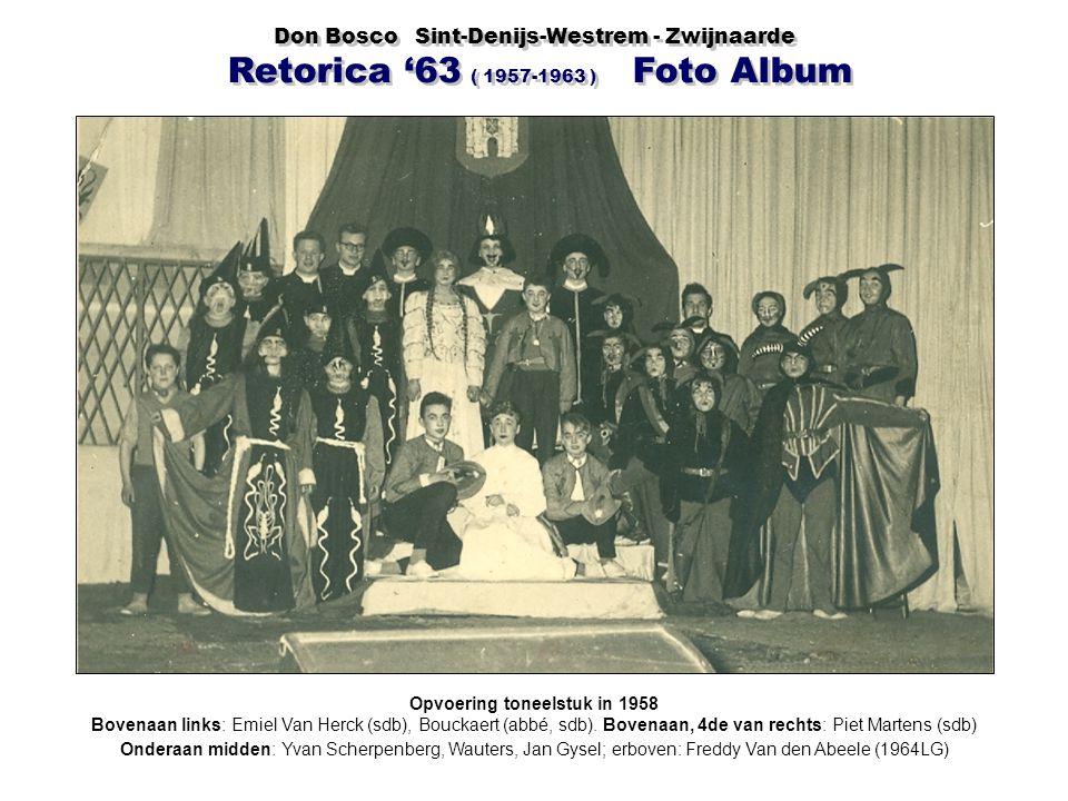 Opvoering toneelstuk in 1958