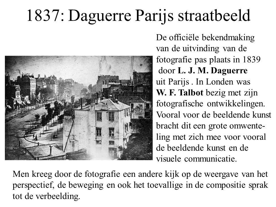 1837: Daguerre Parijs straatbeeld