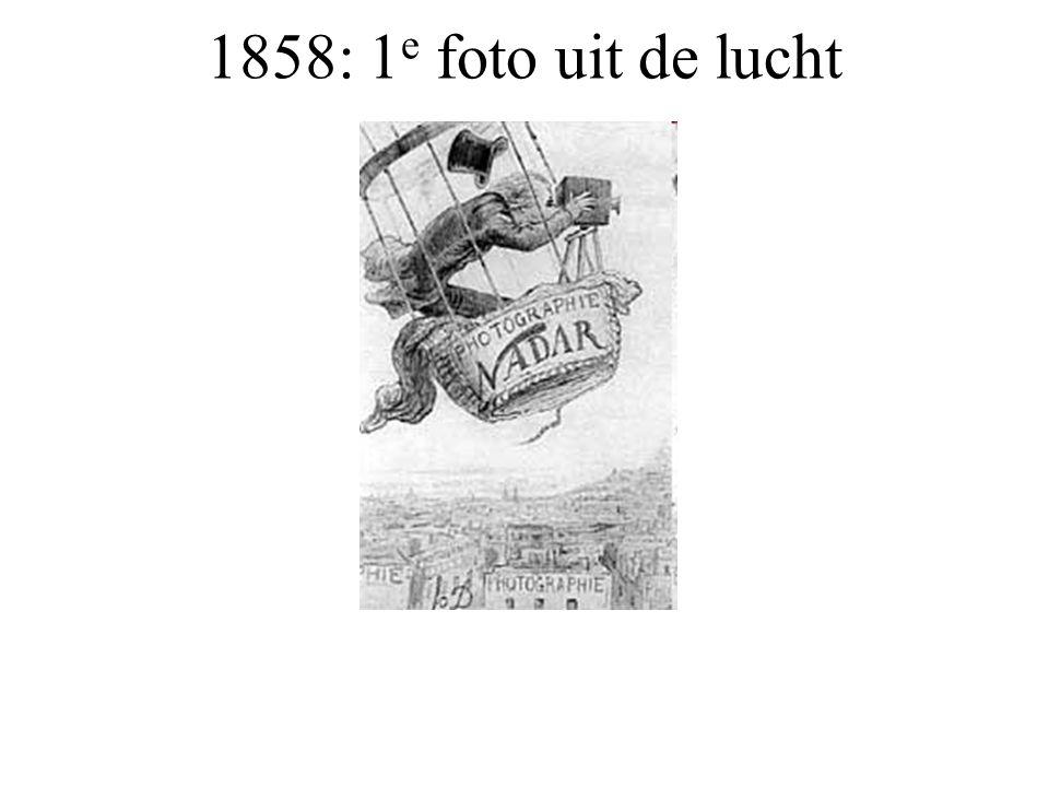 1858: 1e foto uit de lucht