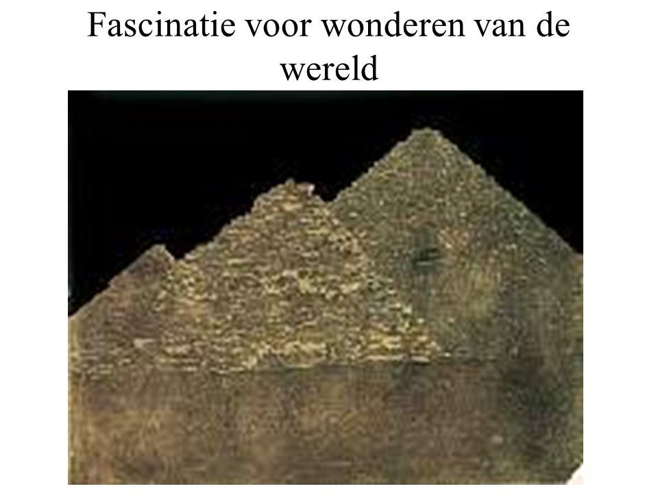 Fascinatie voor wonderen van de wereld