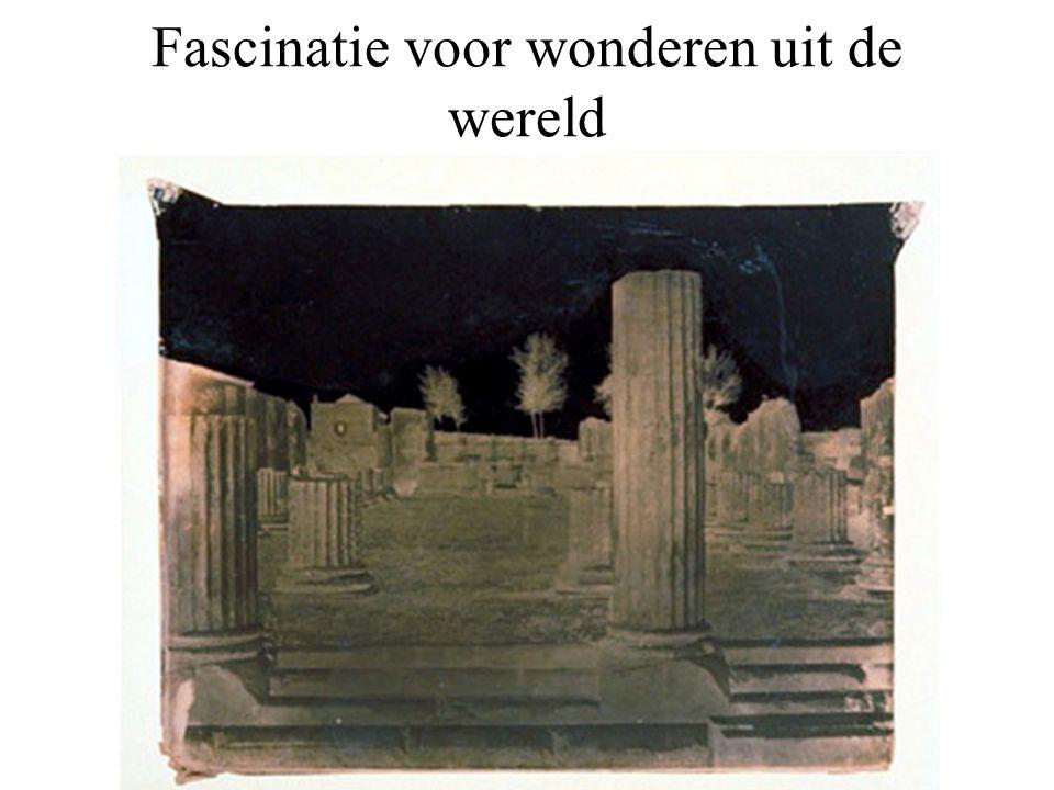Fascinatie voor wonderen uit de wereld