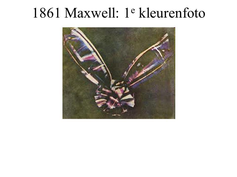 1861 Maxwell: 1e kleurenfoto