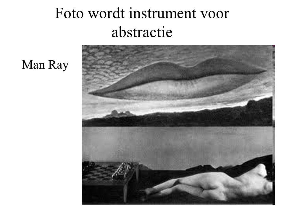 Foto wordt instrument voor abstractie