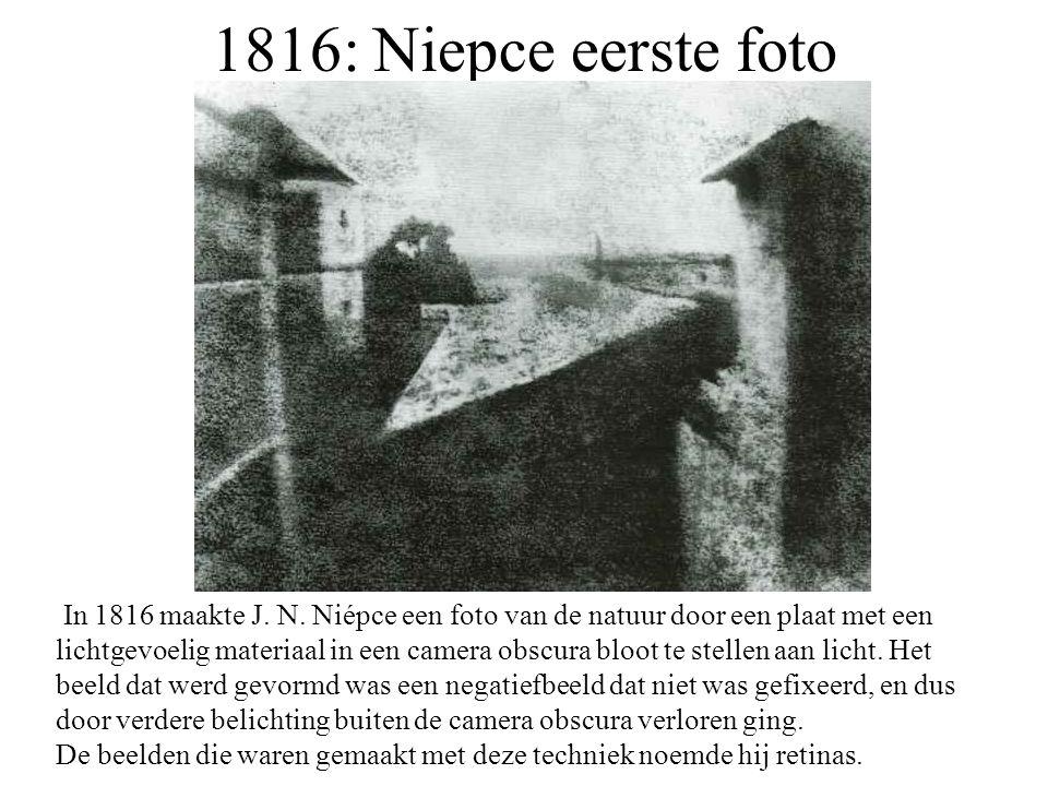 1816: Niepce eerste foto
