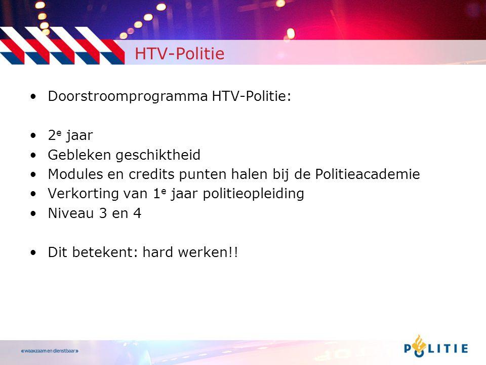 HTV-Politie Doorstroomprogramma HTV-Politie: 2e jaar