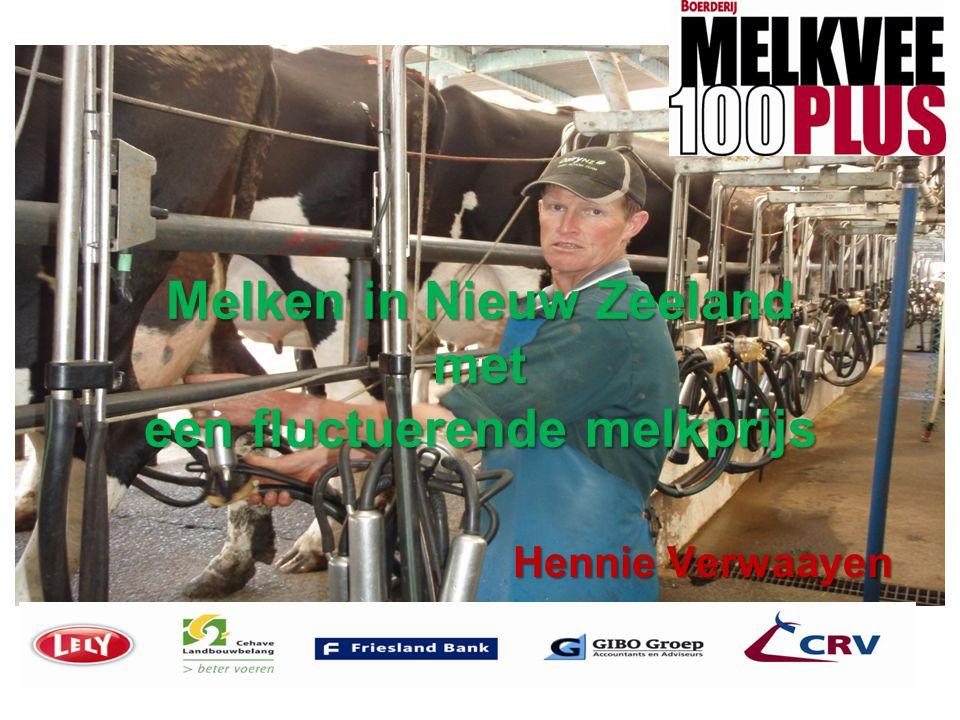 Melken in Nieuw Zeeland met een fluctuerende melkprijs