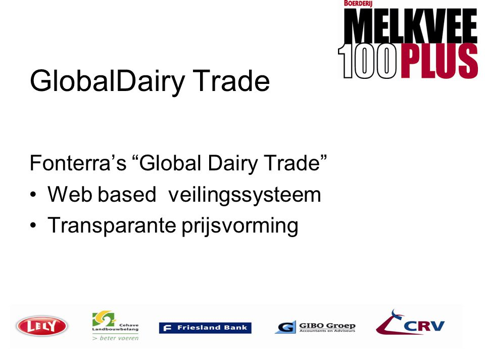 GlobalDairy Trade Fonterra's Global Dairy Trade