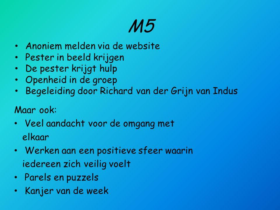 M5 Anoniem melden via de website Pester in beeld krijgen