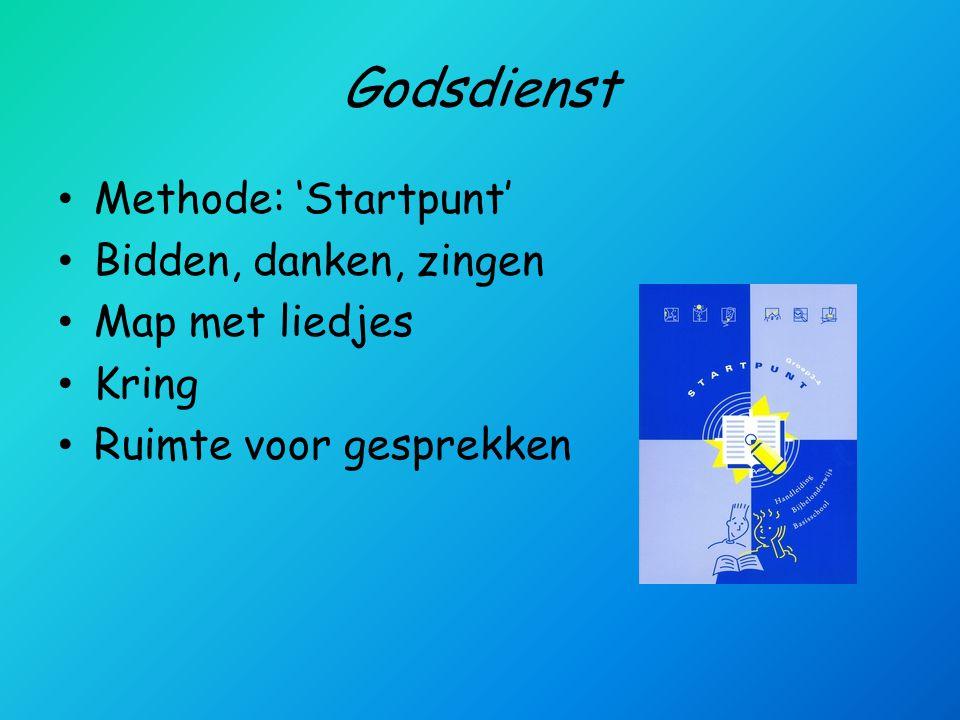 Godsdienst Methode: 'Startpunt' Bidden, danken, zingen Map met liedjes