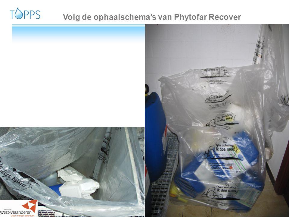 Volg de ophaalschema's van Phytofar Recover