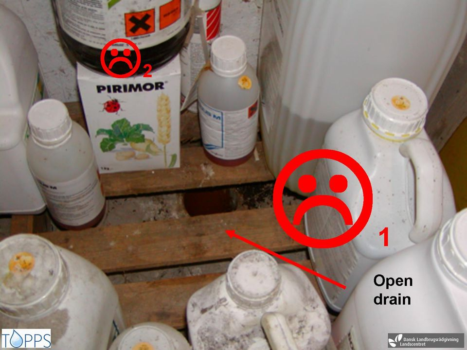 Storage 1: Risk for drainage of spills into the floor drain – statement 2420.