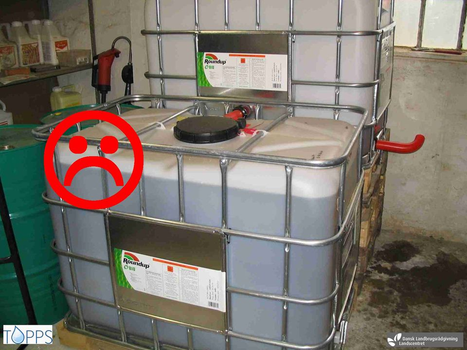 Store Big containers can cause serious problems when accidents happen.
