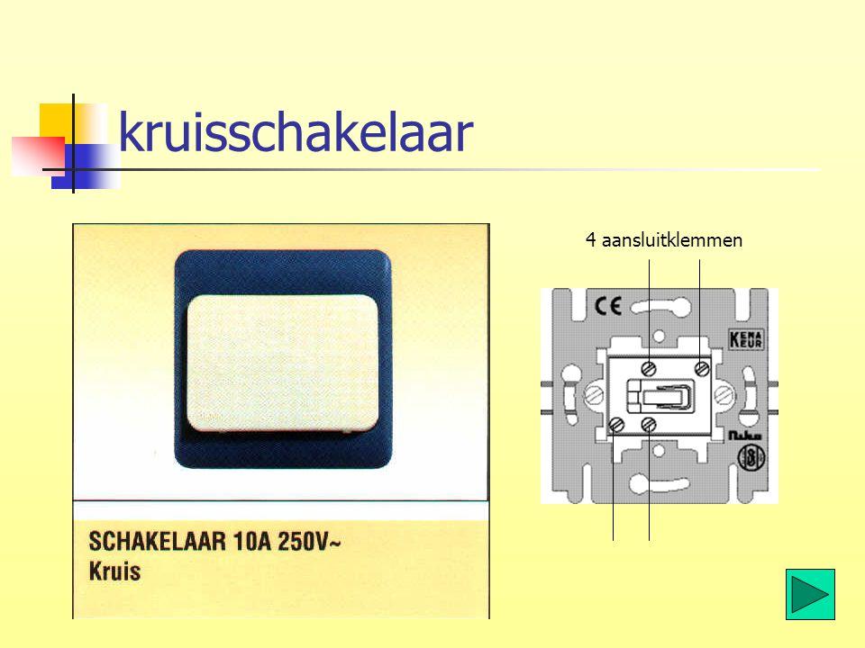 kruisschakelaar 4 aansluitklemmen