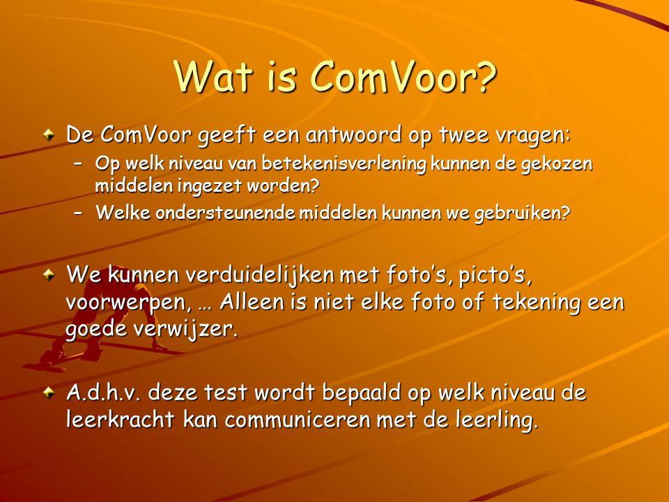 Wat is ComVoor De ComVoor geeft een antwoord op twee vragen: