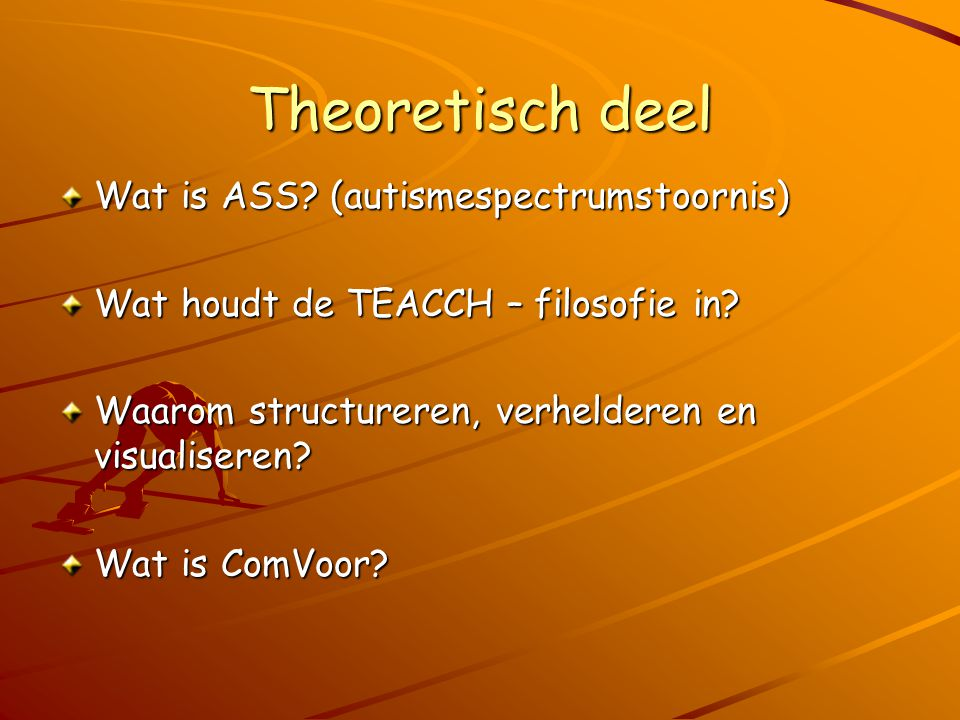 Theoretisch deel Wat is ASS (autismespectrumstoornis)