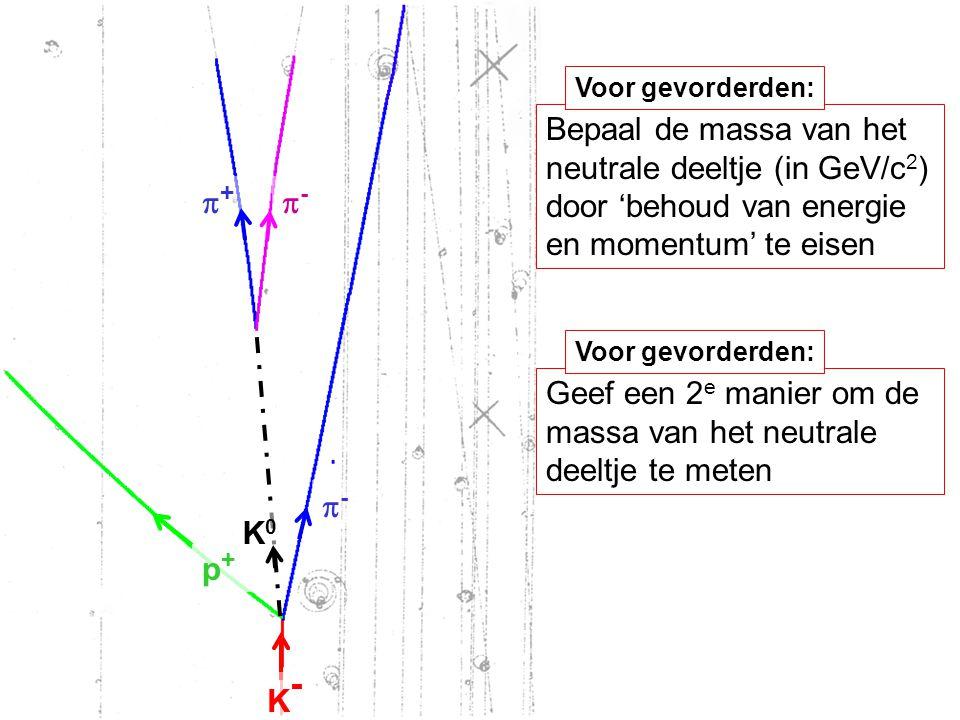 Geef een 2e manier om de massa van het neutrale deeltje te meten