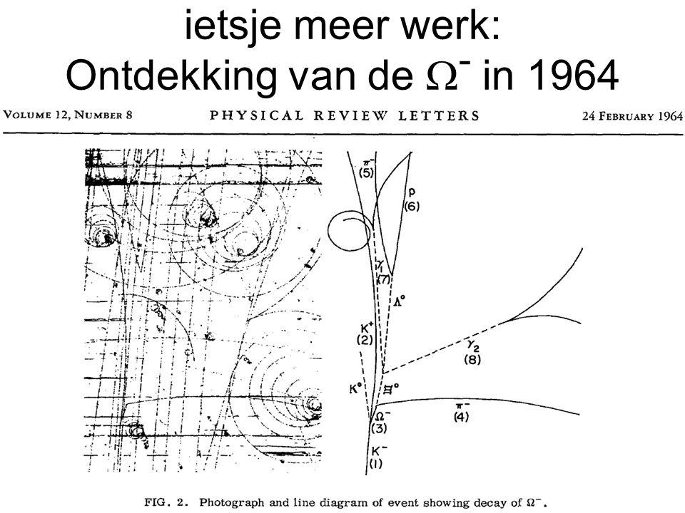 ietsje meer werk: Ontdekking van de W- in 1964
