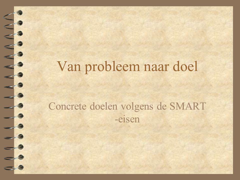 Concrete doelen volgens de SMART -eisen