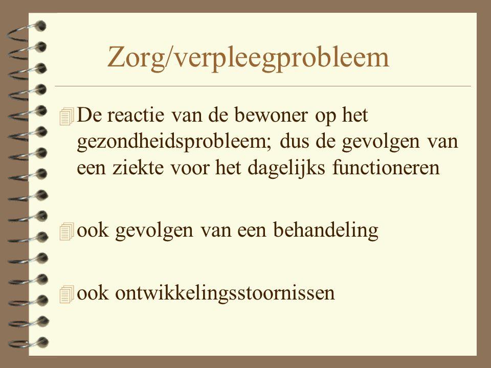 Zorg/verpleegprobleem