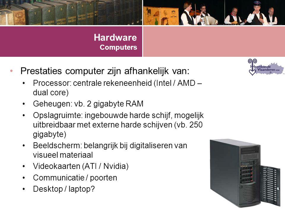 Prestaties computer zijn afhankelijk van: