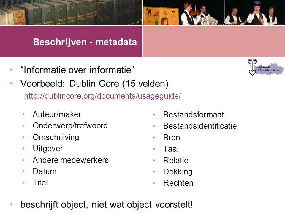 Beschrijven - metadata