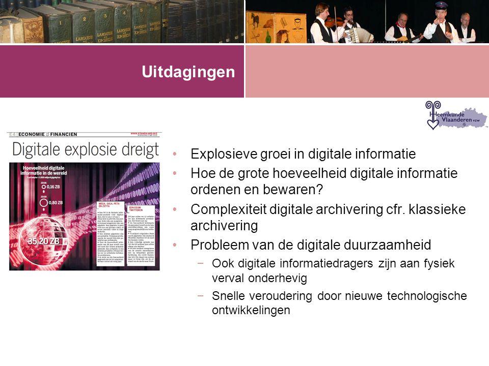 Uitdagingen Explosieve groei in digitale informatie