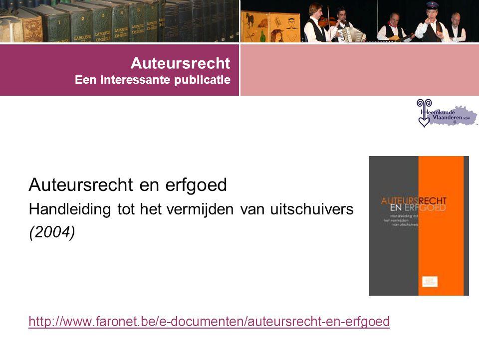 Auteursrecht Een interessante publicatie