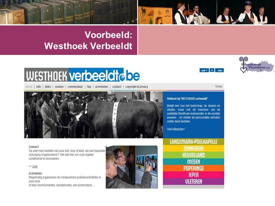 Voorbeeld: Westhoek Verbeeldt