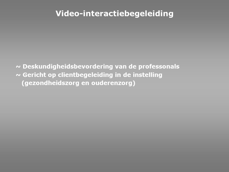 Video-interactiebegeleiding