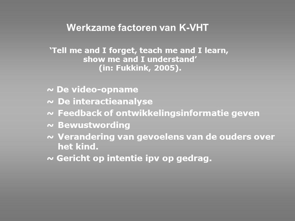 Werkzame factoren van K-VHT