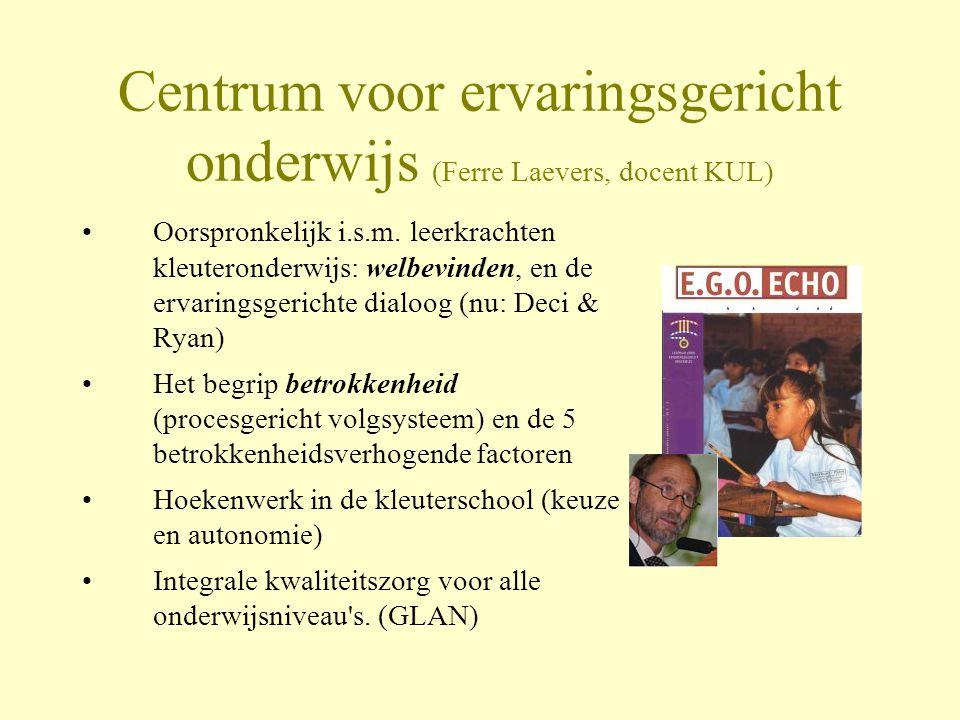 Centrum voor ervaringsgericht onderwijs (Ferre Laevers, docent KUL)