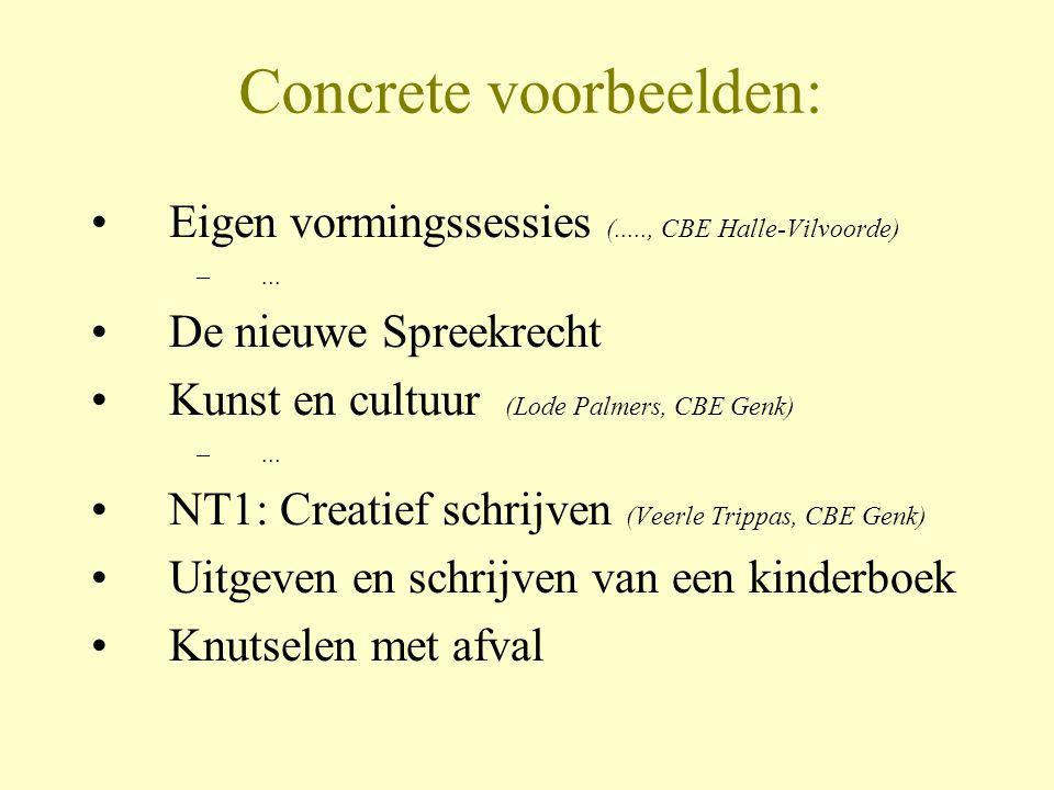 Concrete voorbeelden: