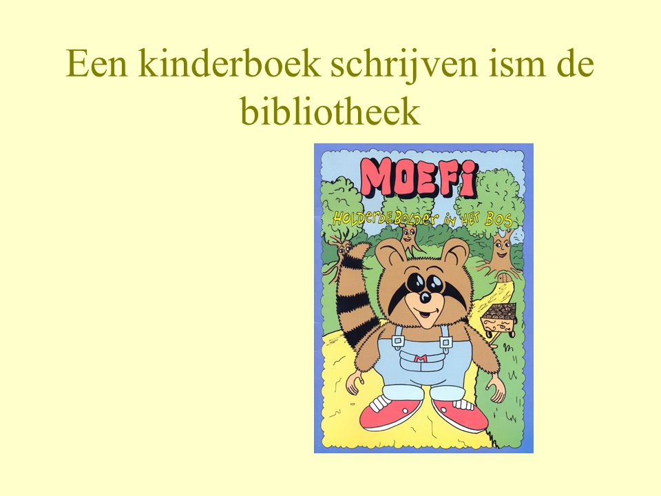 Een kinderboek schrijven ism de bibliotheek