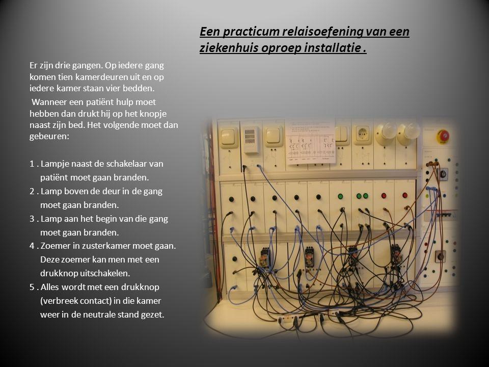 Een practicum relaisoefening van een ziekenhuis oproep installatie .