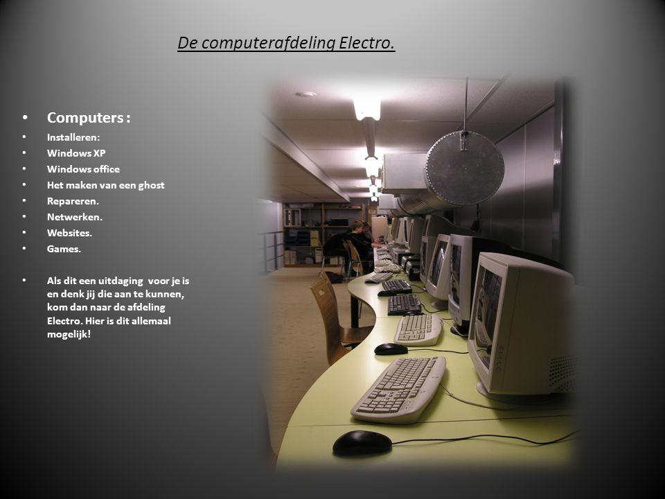 De computerafdeling Electro.