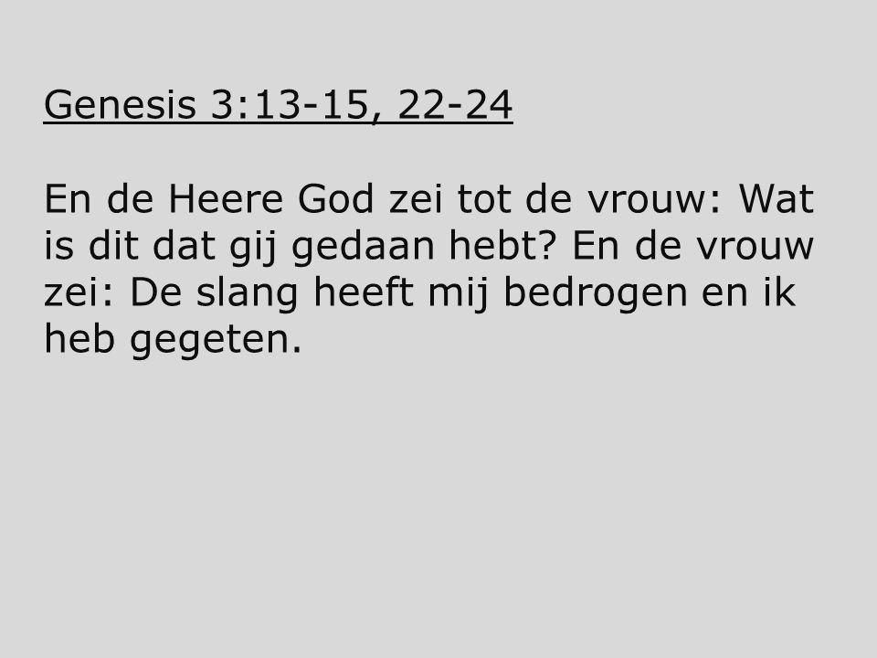 Genesis 3:13-15, 22-24